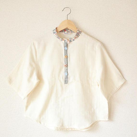 Cotton Linen  Summer blouse (no.042)
