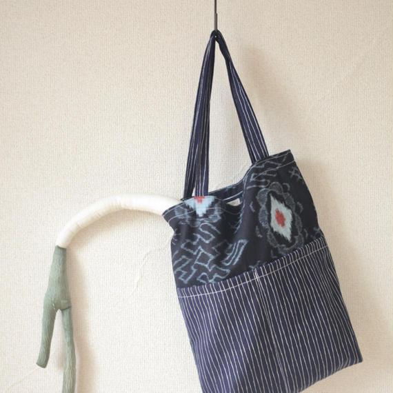 Men's Indigo blue Tote bag (no.109)