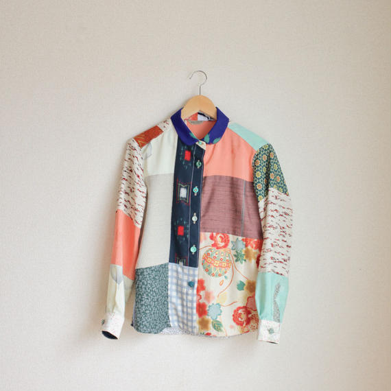 Spring color patchwork shirt (no.138)