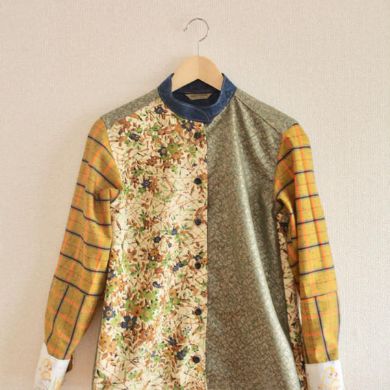 Autumn color Kimono shirt (no.225)
