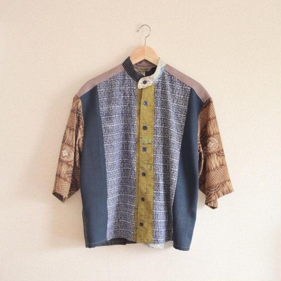 Men's patchwork kimono shirt (no.172)