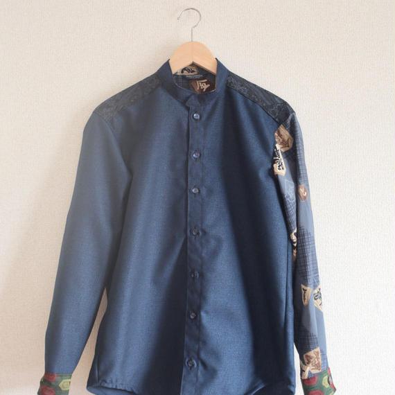 Dark Blue Kimono casual Shirt ① (no.239)