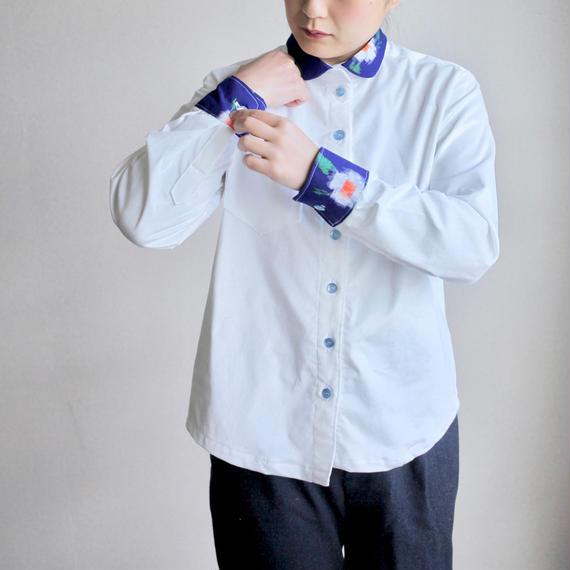 White corduroy x Blue Kasuri shirt (no.120)