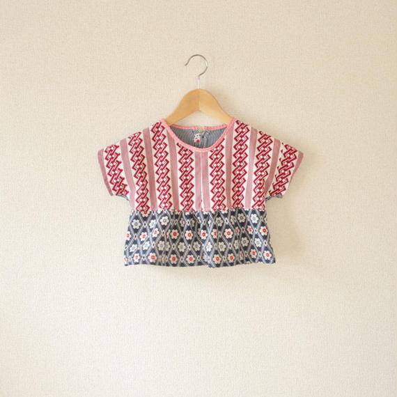 KIDS  Red Yukata&Flower Kimono blouse (no.204)