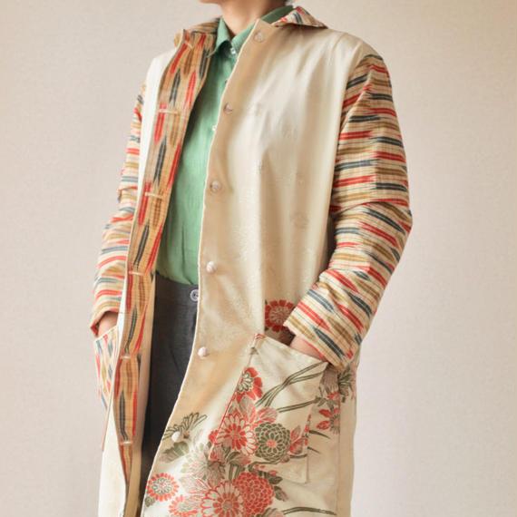 Japanese Kimono embroidered Long coat (no.071)