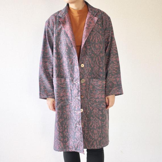 Pink x Gray Kimono coat (no.077)