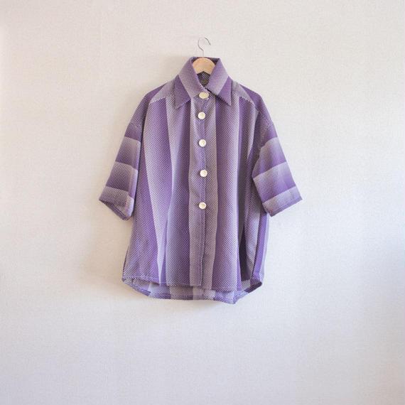 Retro purple Blouse/jacket (no.124)