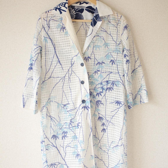 Women's Summer long jacket /Vintage material(no.020)