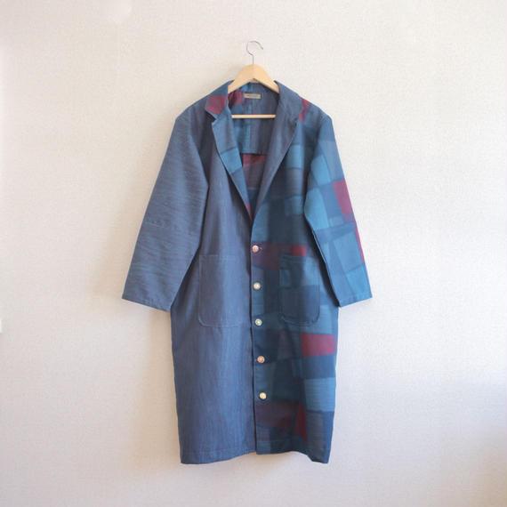 Navy Blue Unisex long jacket (no.117)