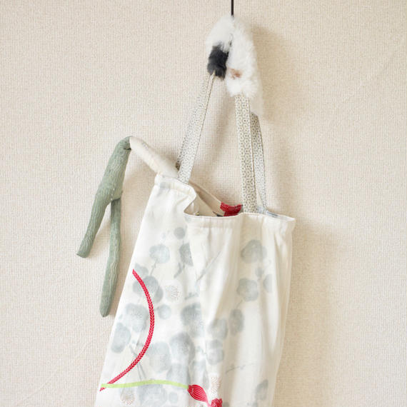 Fur x Silk Kimono winter tote bag ① (no.110)