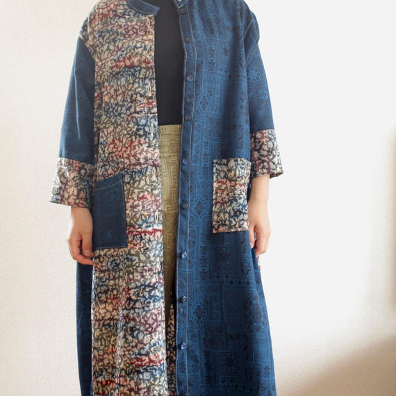 2 color Kimono Long jacket (no.218)