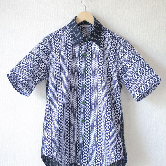 Men's HIRAGANA&YUKATA half-sleeves shirt (no.034)