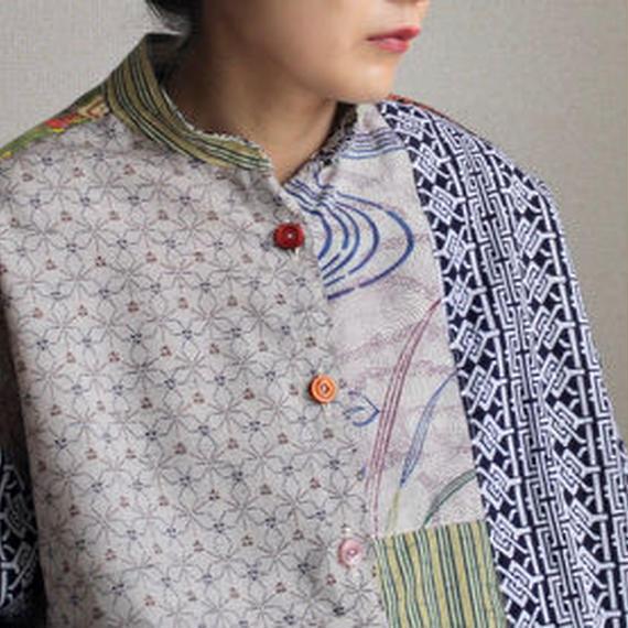 Kimono&Yukata Patchwork shirt (no.220)