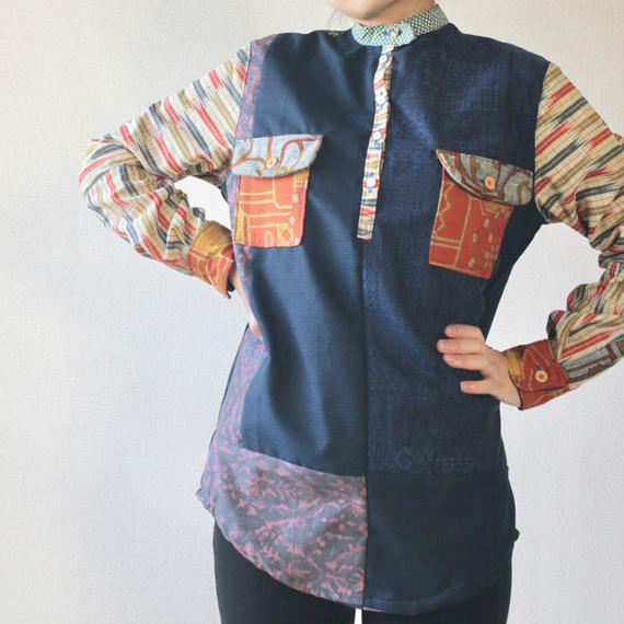 Unisex patchwork casual shirt (no.083)