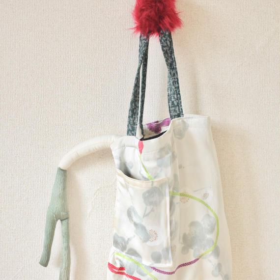 Fur x Silk Kimono winter tote bag ② (no.111)