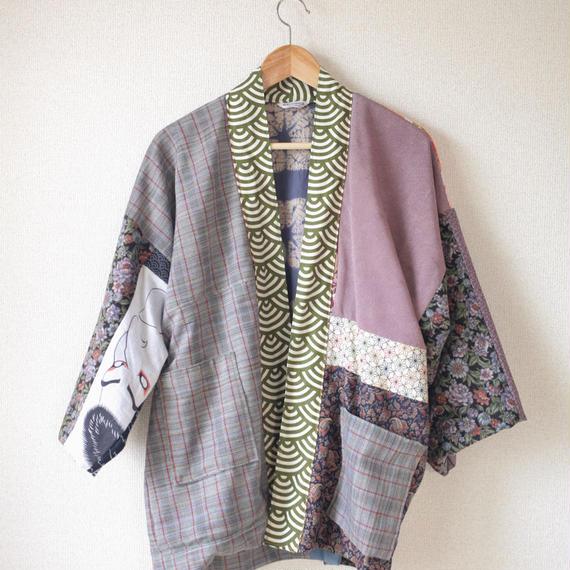 SALE!! Patchwork Hanten short coat (no.065)