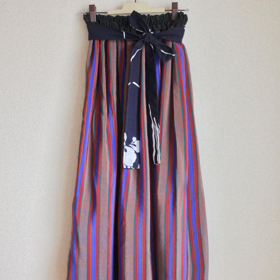 Vintage Stripe Kimono Skirt (no.137)