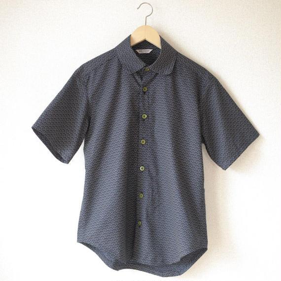 Men's wave-crest pattern shirt (no.044)