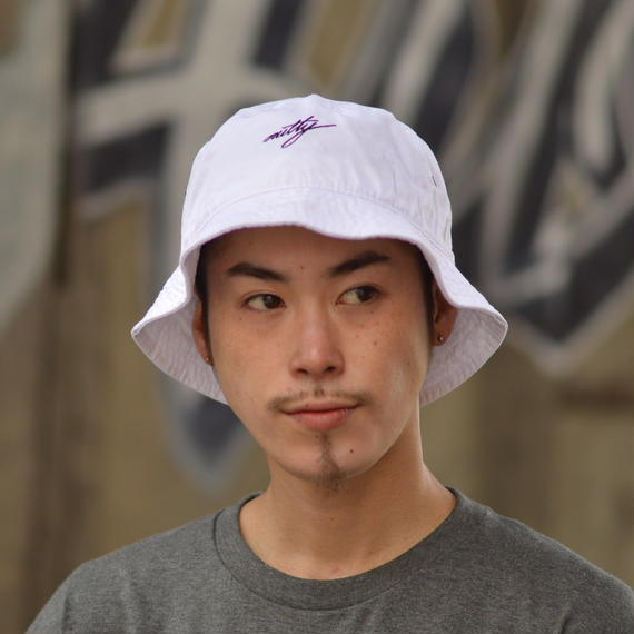 "nutty clothing / BACKET HAT ""WHITE"""