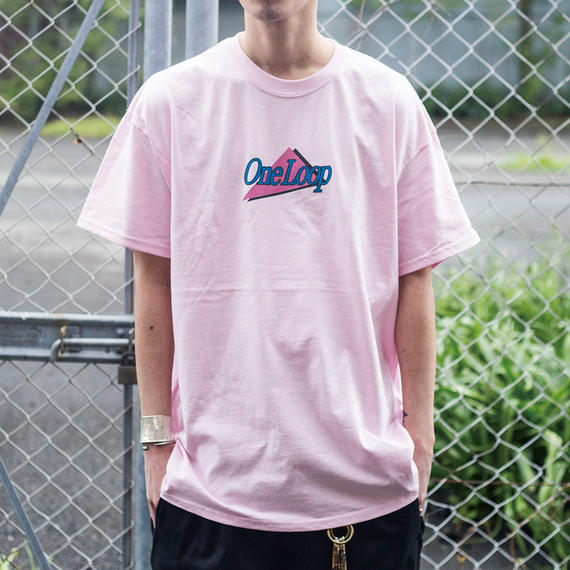"nuttyclothing / ONELOOP VIDEO SHOP T-SHIRT ""Light Pink"""