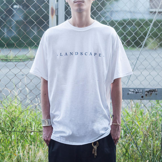"nuttyclothing / LAND SCAPE T-SHIRT  ""WHITE"""