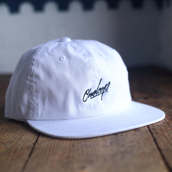 "nuttyclothing / ONELOOP 6 Panel BB CAP ""WHITE"""