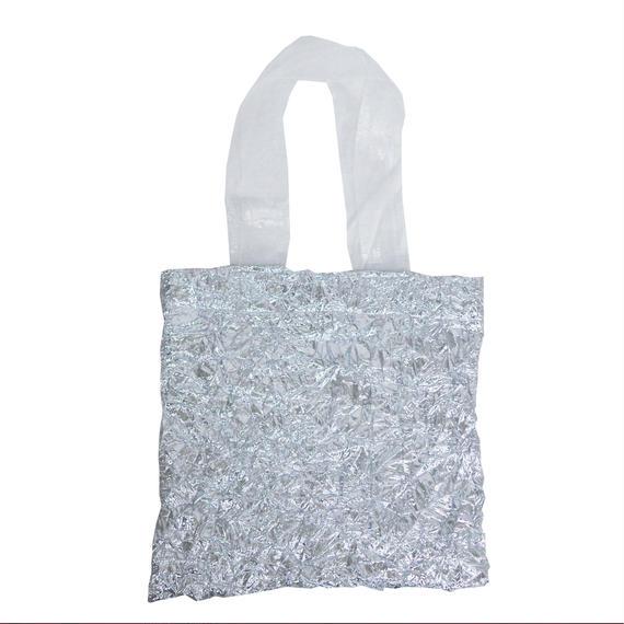 METALIC  WASHER  BAG ( silver )