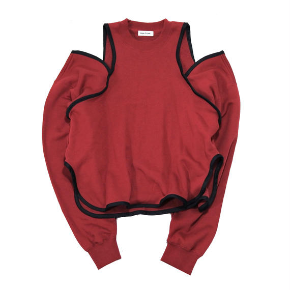 open  shoulder sweat shirt(S-2)