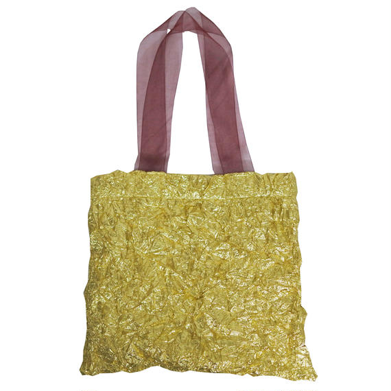 METALIC  WASHER  BAG  (gold)