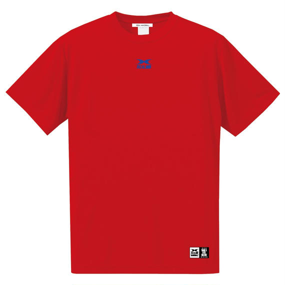 ビッグロゴ ドライTシャツ レッド
