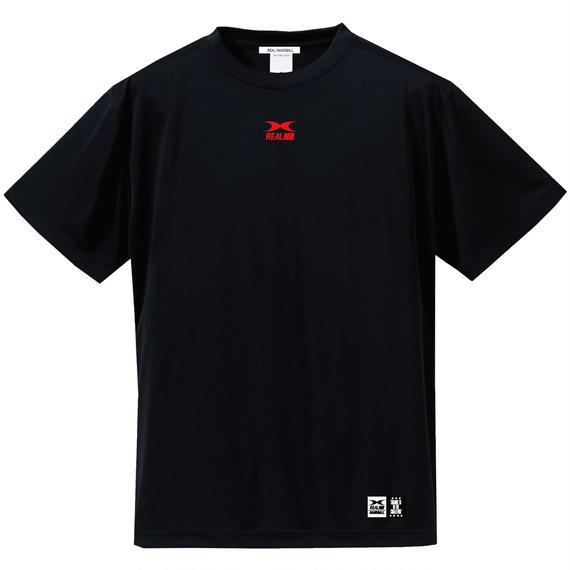 ビッグロゴ ドライTシャツ ブラックレッド