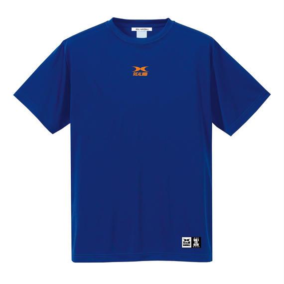 ビッグロゴ ドライTシャツ ブルー