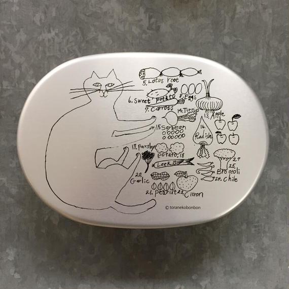 トラネコお弁当箱 小判型 FOOD