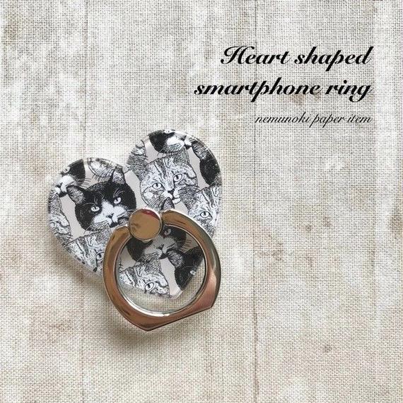 えらべるデザイン18種 ハート形スマホリング/ Heart-shape Smartphone Ring&Stand