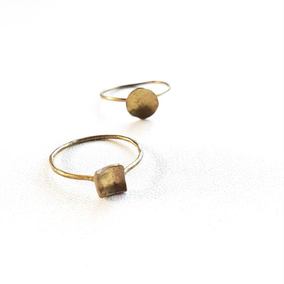 まる●しかく■ 真鍮リング/ Brass Ring