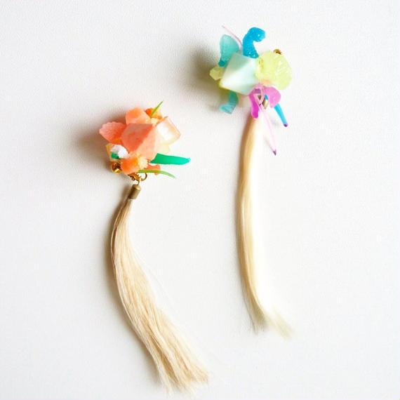 Plant片耳イヤリング/ One side screw clip earring