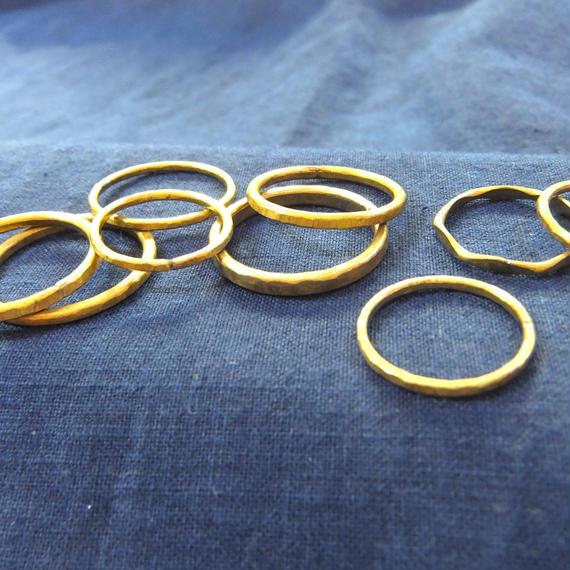 シンプル真鍮細リング/ Brass Ring