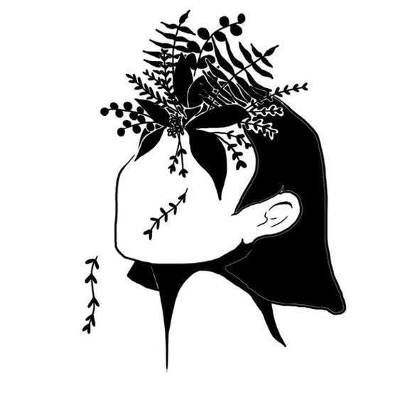 空間をそっと染める・アートカード/ illustrated card