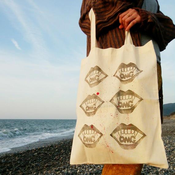OMG! 大きめトートバッグ/ Reusable cotton bag