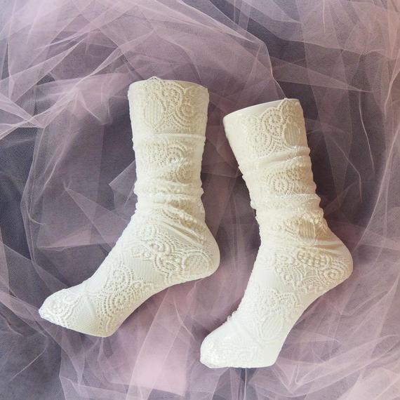 Romantic・レースソックス/  floral socks