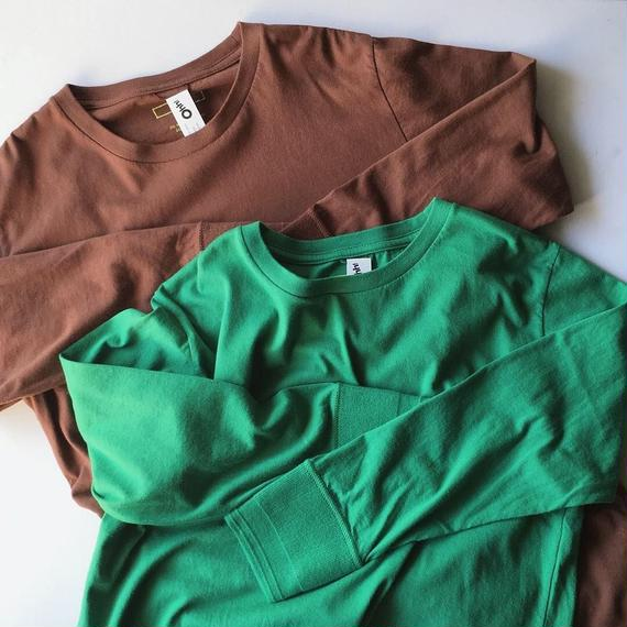 BASIC 9/10 SLEEVE TEE - Green/Auburn