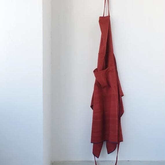 KHADI FULL APRON - RED