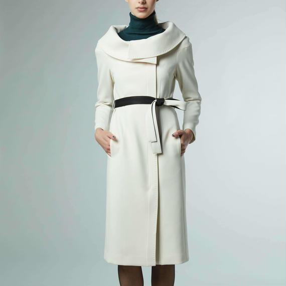 ダブルクロスワイドカラー コート