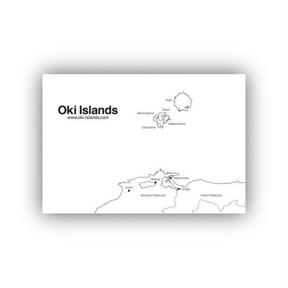 Oki Islands Postcard Type B
