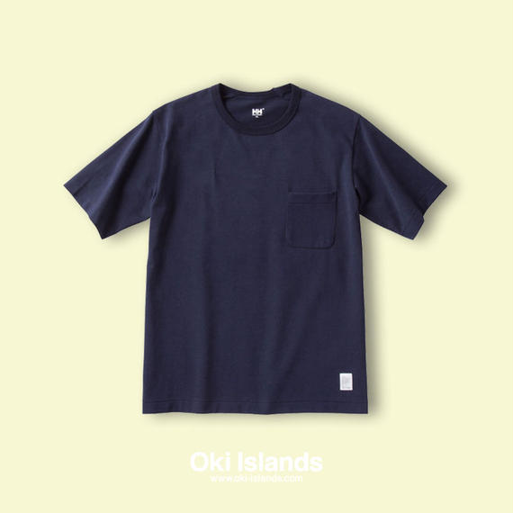 S/S Brushed Pocket Tee / Oki islands ヘリーブルー(HB)