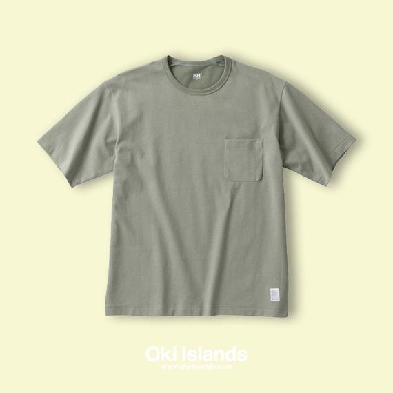 S/S Brushed Pocket Tee / Oki islands モスグレー(ME)