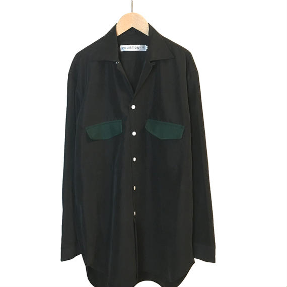 MODAL HAMA COLLAR BIG SHIRT (BLACK)