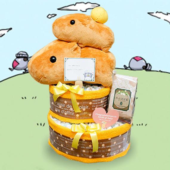 のすのすっ♪カピバラさんのおむつケーキ3段