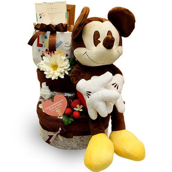 みんな大好きミッキーマウス♪[ミッキー]のオムツケーキ(3段)