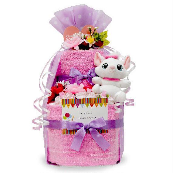 【ディズニー】マリーちゃんのおむつケーキ【おくるみ風】